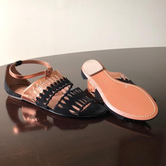 9b33a9538ab7 Alaia Ankle Wrap 10.5M Flat Heel Gladiator Sandals